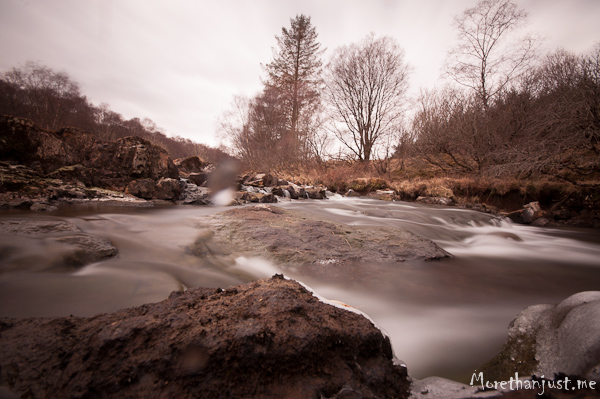 Long exposure - river running, Mull 0313